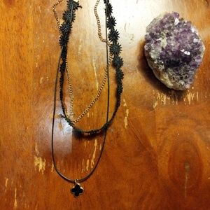 Bundle! 2 black chokers